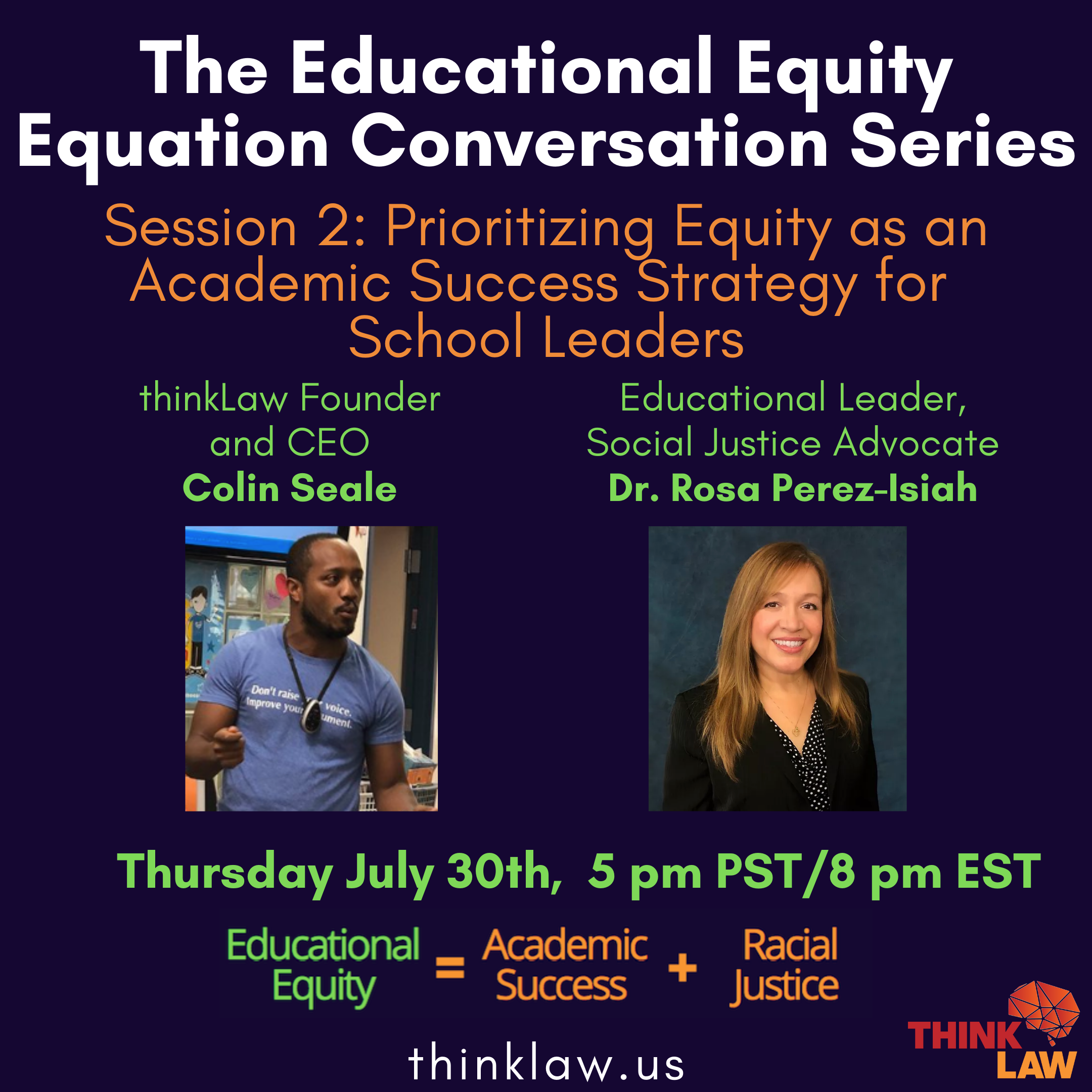 Educational Equity Equation Series, Session II