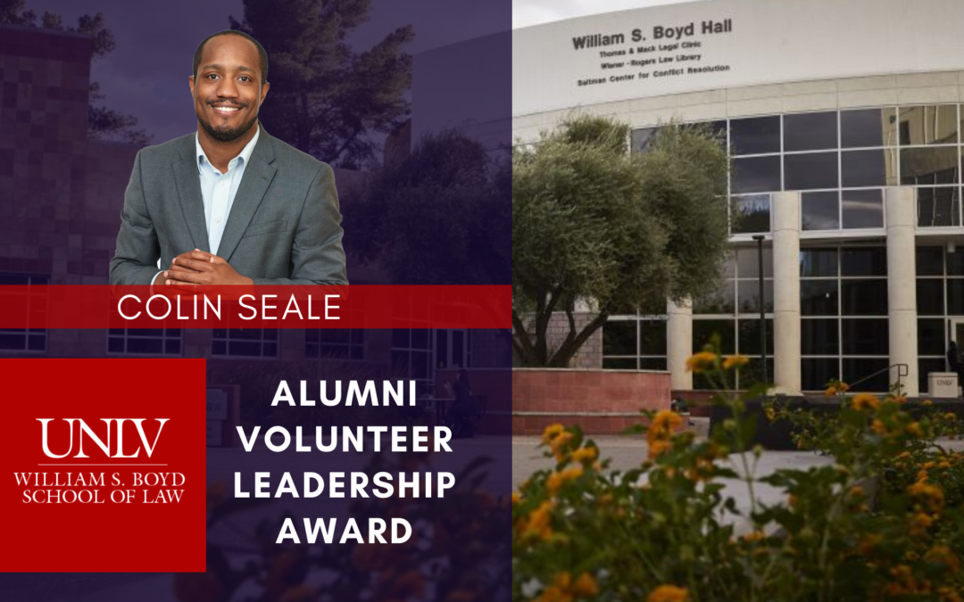 thinkLaw Founder Colin Seale Receives Alumni Volunteer Leadership Award